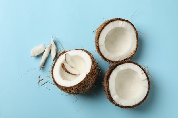 파란색, 최고보기에 신선한 맛있는 코코넛