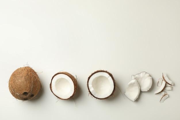 흰색, 최고보기에 신선한 맛있는 코코넛