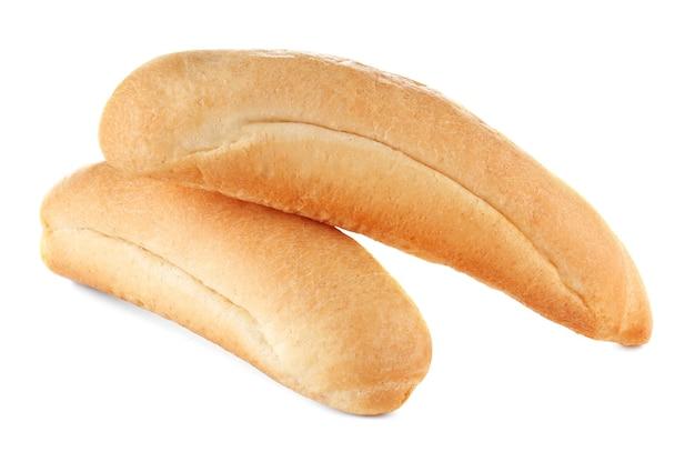 흰색 절연 빵의 신선한 맛 있는 롤