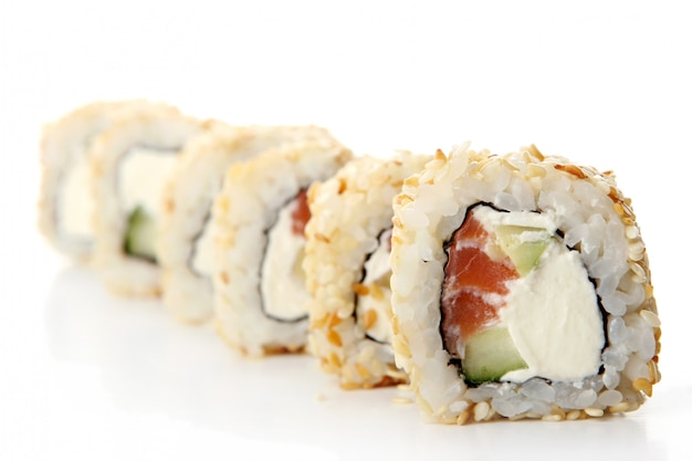 A fresh and tasty sushi roll