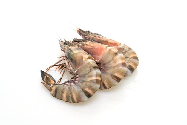 Свежие тигровые креветки или изолированные креветки