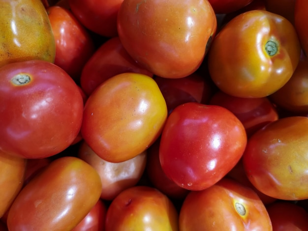 Fresh tomatoes. colorful vegetable background.