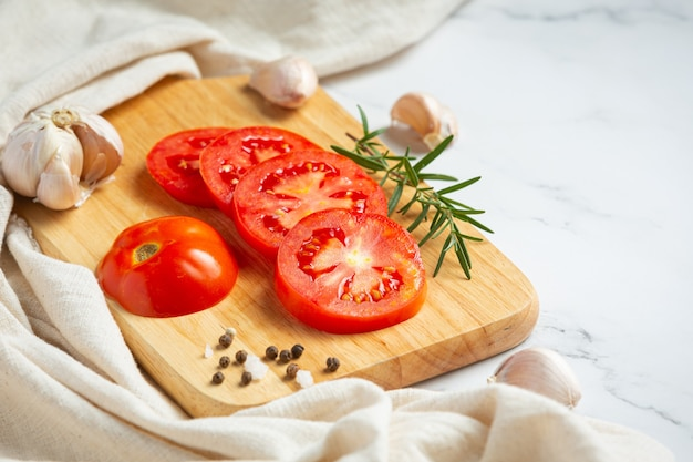 Fresh tomatoes ready to cook