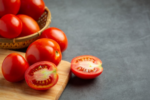調理する準備ができているフレッシュトマト