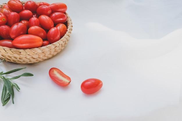Fresh tomatoes and rosemary