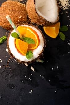 Fresh tropical cocktail