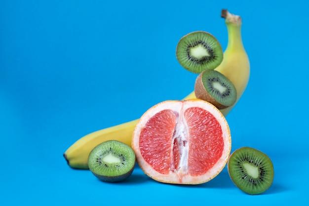 신선한 열대 과일. 다른 과일