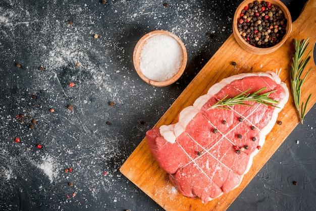 Fresh uncooked roastbeef