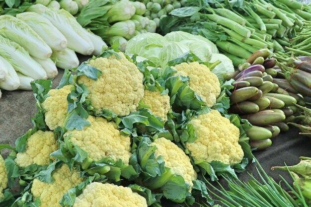 Fresh vegetable at market