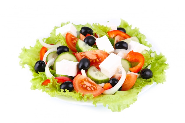 Fresh vegetable salad isolated
