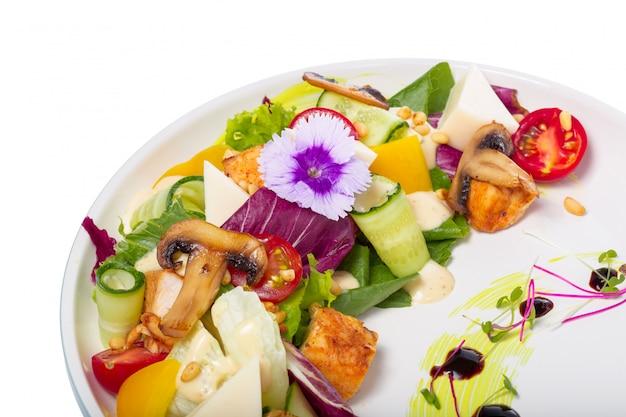 Fresh vegetable salad isolated