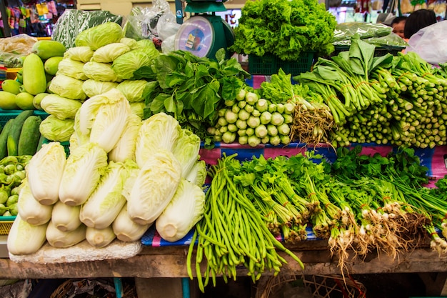 Fresh vegetable in shelf market