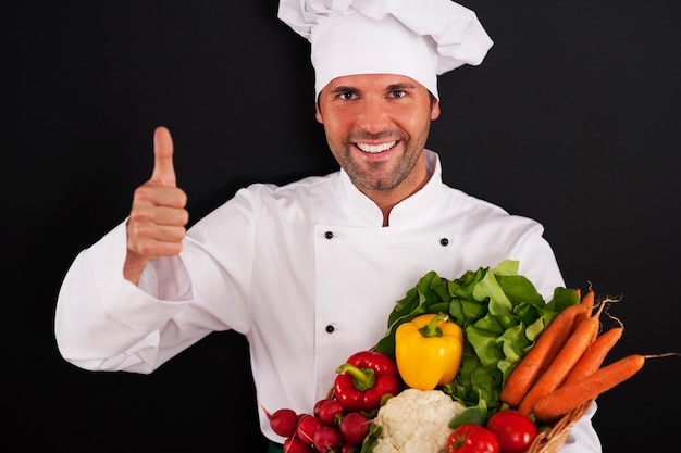新鮮な野菜はとても健康的です!