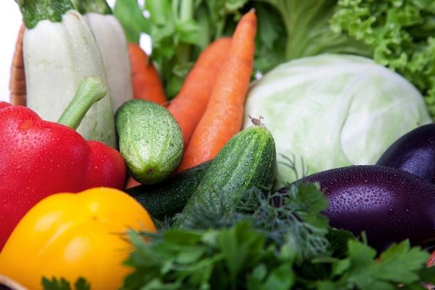 Свежие овощи крупным планом