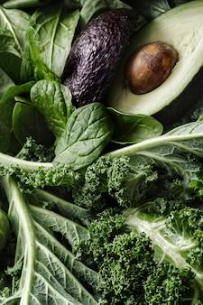 신선한 야채 평면 누워 건강한 라이프 스타일