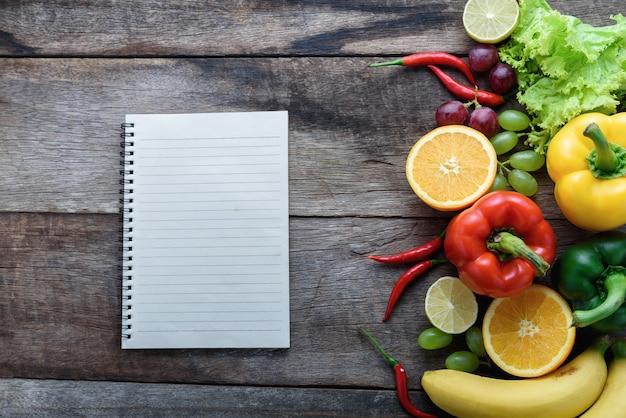 Fresh vegetables and fruits for fitness dinner