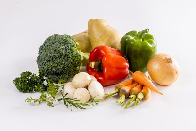 흰색 절연 신선한 야채