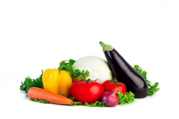 Fresh vegetables on isolated