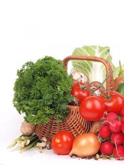 Свежие изолированные овощи