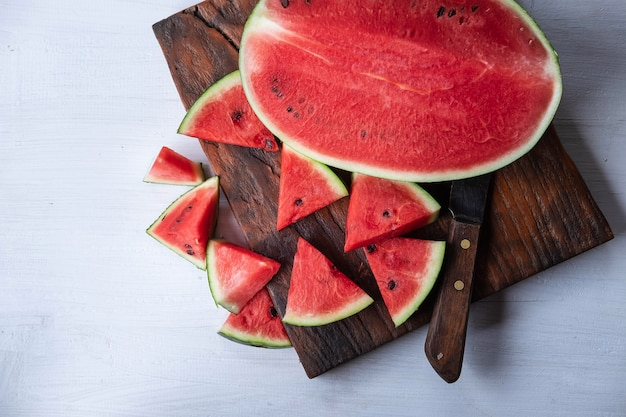 Fresh watermelon fruit on the table