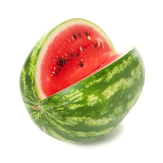 Fresh watermelon isolated on white. summer fruit