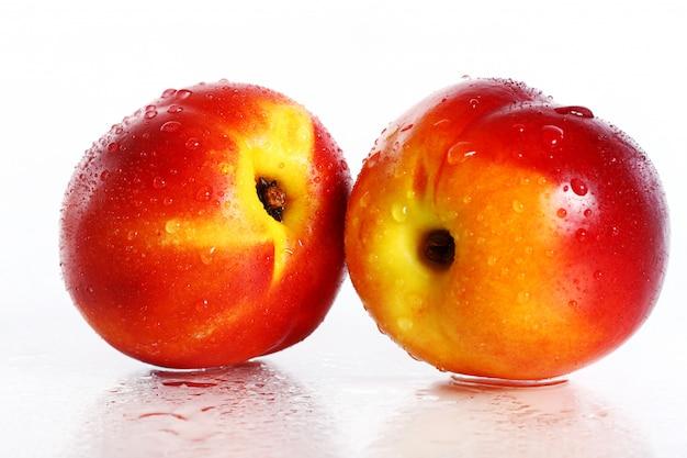 Fresh and wet nictarine fruits