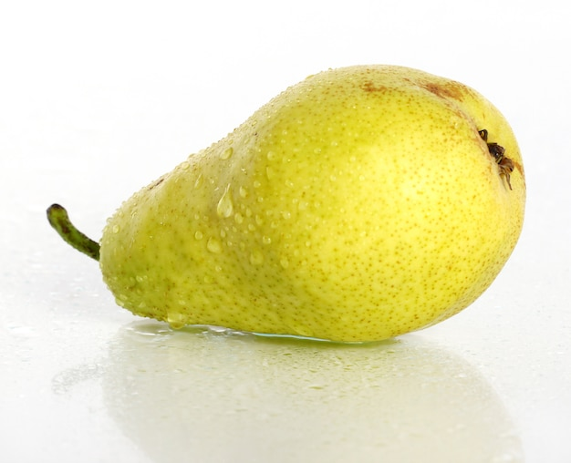 Fresh and wet pear fruit