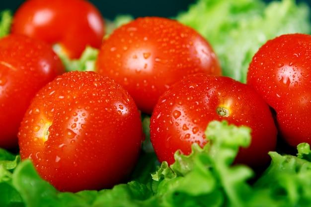 Pomodori freschi e bagnati