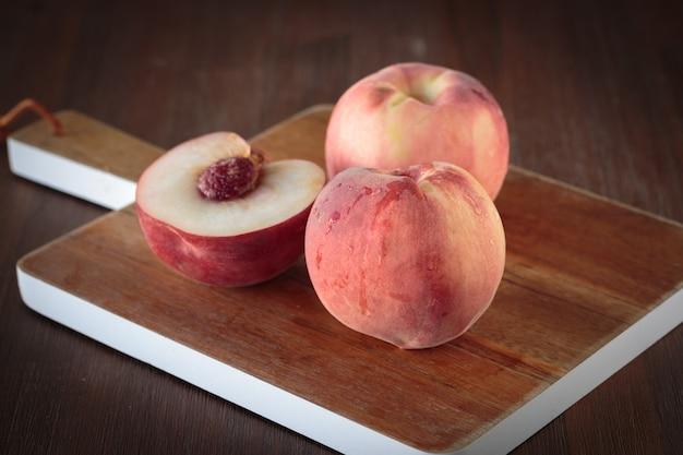 Fresh white peach