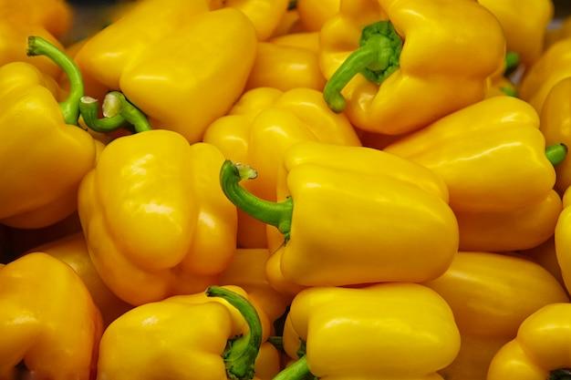 Fresh yellow pepper background