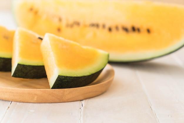 Fresh yellow watermelon