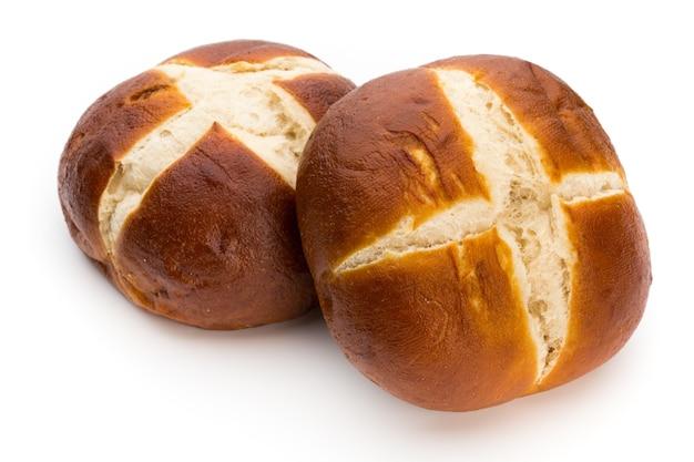分離した焼きたてのパン。