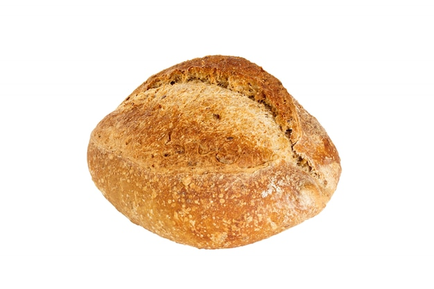 Freshly baked bread isolated