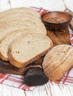 Freshly baked homemade whole grain bread