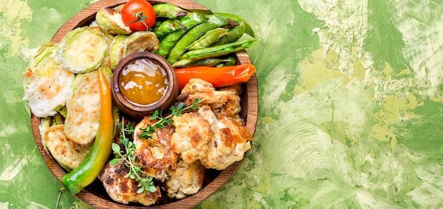 Freshly grilled vegetables
