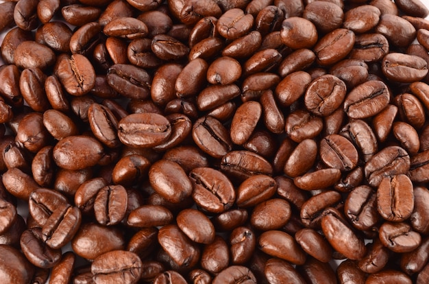焙煎したてのコーヒーのクローズアップ