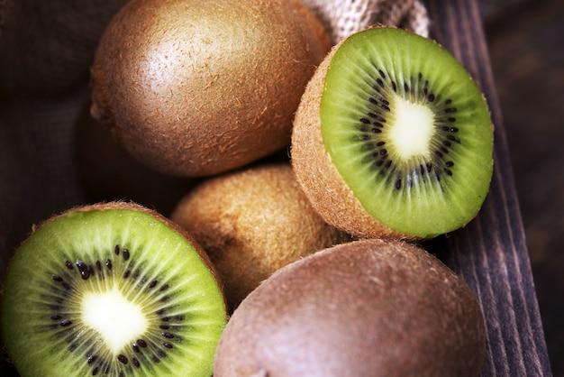 Freshly sliced kiwi