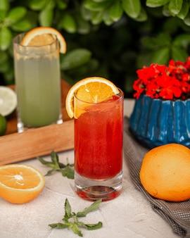 Freshly squeezed grapefruit smoothie