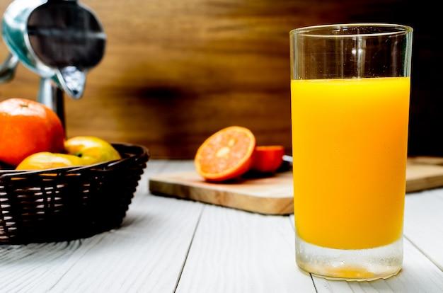 The freshly squeezed orange juice