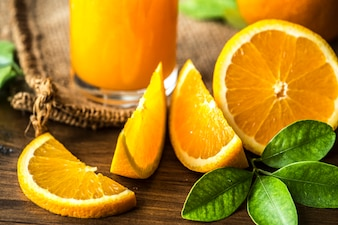 Freshly squeezed organic orange juice