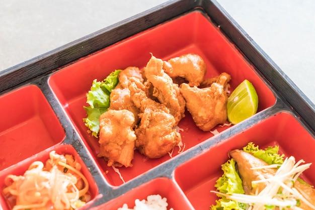 Fried chicken bento set