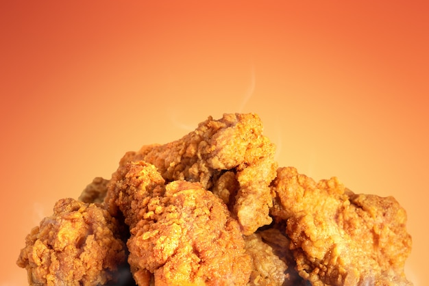 Fried chicken or crispy kentucky on hot