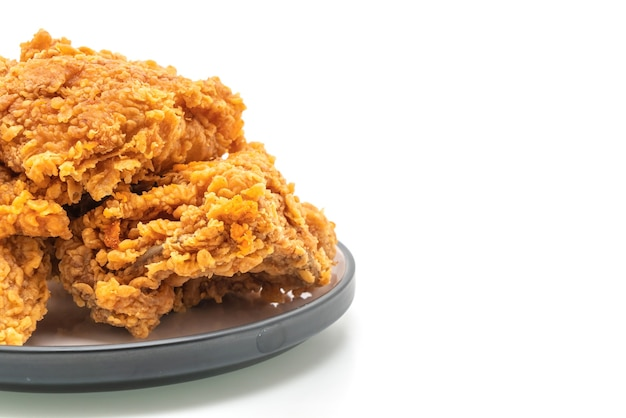 Fried chicken meal (junk food and unhealthy food)