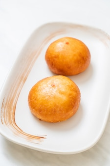 Fried chinese lava buns, asian food style