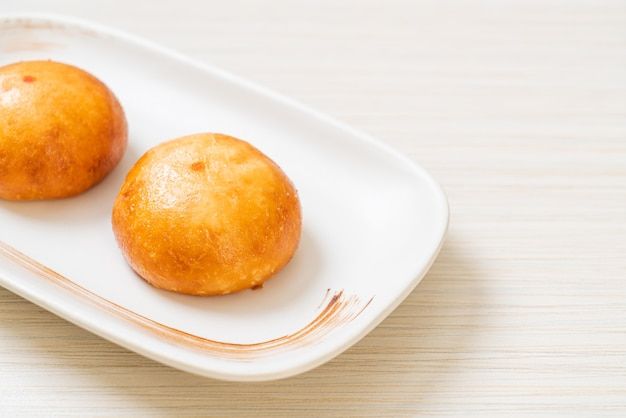 Fried chinese lava buns - asian food style