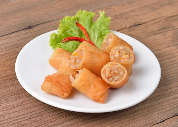 Fried chinese spring roll for appetizer