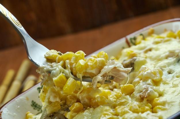 鶏肉のフライドコーンディップ-クレオールコンテッサ、南部料理