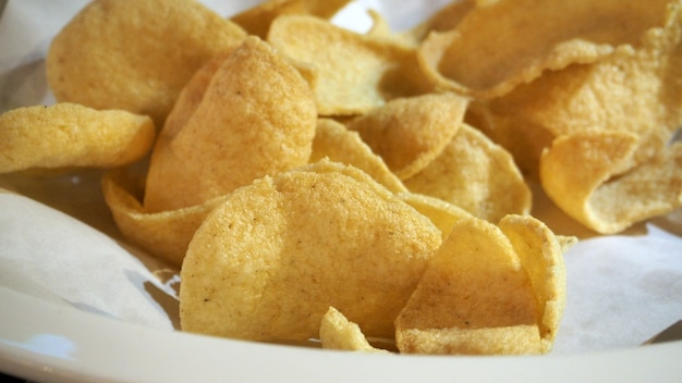 Fried cracker yellow color