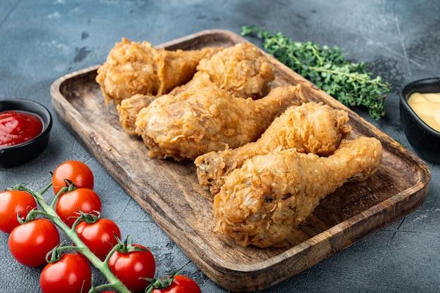 바삭 바삭한 닭다리 튀김, 닭다리 부분 회색