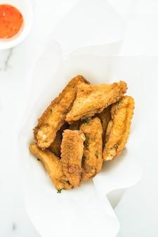 Fried crispy chicken wing